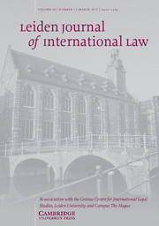 Leiden Journal of International Law Volume 30 - Issue 1 -