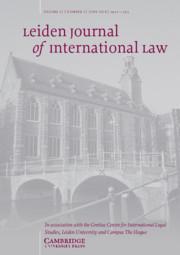 Leiden Journal of International Law Volume 31 - Issue 2 -