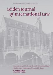 Leiden Journal of International Law Volume 32 - Issue 2 -