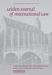 Leiden Journal of International Law Volume 32 - Issue 4 -
