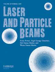 Laser and Particle Beams Volume 25 - Issue 2 -
