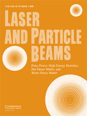 Laser and Particle Beams Volume 26 - Issue 1 -