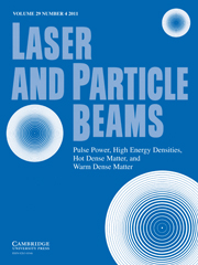 Laser and Particle Beams Volume 29 - Issue 4 -