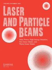 Laser and Particle Beams Volume 31 - Issue 3 -