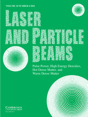 Laser and Particle Beams Volume 34 - Issue 4 -