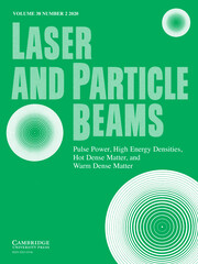 Laser and Particle Beams Volume 38 - Issue 2 -