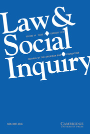 Law & Social Inquiry Volume 44 - Issue 1 -