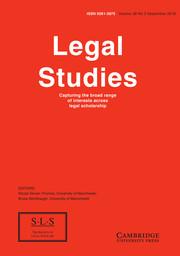 Legal Studies Volume 38 - Issue 3 -