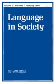 Language in Society Volume 37 - Issue 1 -