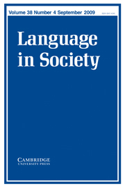 Language in Society Volume 38 - Issue 4 -
