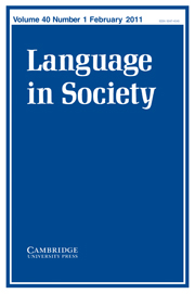 Language in Society Volume 40 - Issue 1 -  Narratives in interviews, Interviews in narrative studies