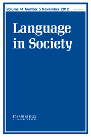 Language in Society Volume 41 - Issue 5 -