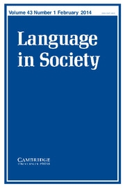 Language in Society Volume 43 - Issue 1 -