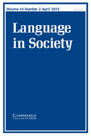 Language in Society Volume 44 - Issue 2 -  Special Issue: Heteroglossia and performance
