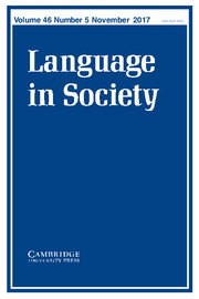 Language in Society Volume 46 - Issue 5 -