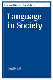 Language in Society Volume 48 - Issue 2 -