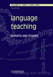 Language Teaching Volume 41 - Issue 2 -