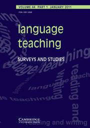 Language Teaching Volume 44 - Issue 1 -
