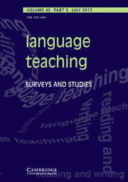 Language Teaching Volume 45 - Issue 3 -