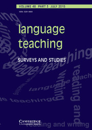 Language Teaching Volume 48 - Issue 3 -