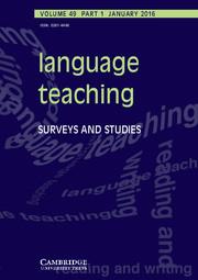Language Teaching Volume 49 - Issue 1 -