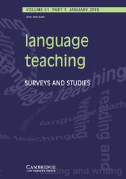 Language Teaching Volume 51 - Issue 1 -