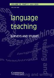 Language Teaching Volume 53 - Issue 3 -