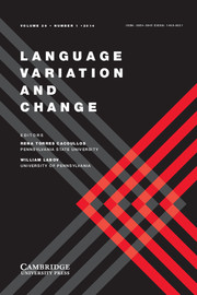 Language Variation and Change Volume 26 - Issue 1 -