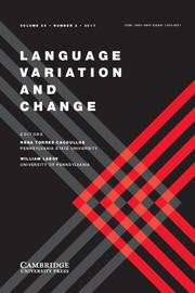 Language Variation and Change Volume 29 - Issue 2 -