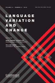 Language Variation and Change Volume 31 - Issue 2 -