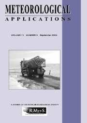 Meteorological Applications Volume 11 - Issue 3 -