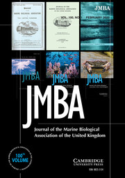 Journal of the Marine Biological Association of the United Kingdom Volume 100 - Issue 1 -