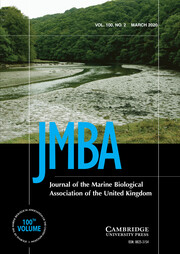 Journal of the Marine Biological Association of the United Kingdom Volume 100 - Issue 2 -