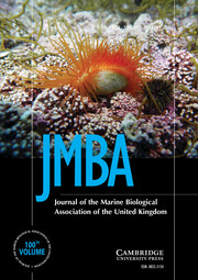 Journal of the Marine Biological Association of the United Kingdom Volume 100 - Issue 3 -