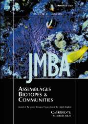 Journal of the Marine Biological Association of the United Kingdom Volume 84 - Issue 3 -
