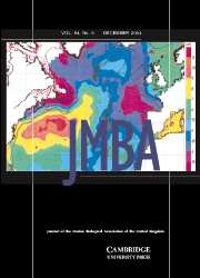 Journal of the Marine Biological Association of the United Kingdom Volume 84 - Issue 6 -