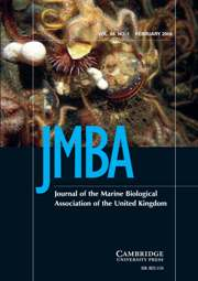 Journal of the Marine Biological Association of the United Kingdom Volume 88 - Issue 1 -