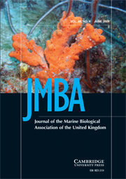 Journal of the Marine Biological Association of the United Kingdom Volume 88 - Issue 4 -