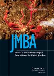 Journal of the Marine Biological Association of the United Kingdom Volume 88 - Issue 5 -