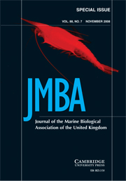 Journal of the Marine Biological Association of the United Kingdom Volume 88 - Issue 7 -
