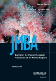 Journal of the Marine Biological Association of the United Kingdom Volume 88 - Issue 8 -  Hydrozoans