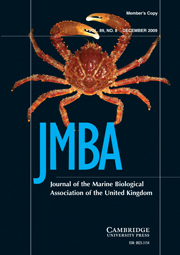 Journal of the Marine Biological Association of the United Kingdom Volume 89 - Issue 8 -