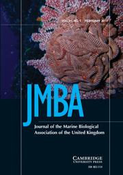 Journal of the Marine Biological Association of the United Kingdom Volume 91 - Issue 1 -