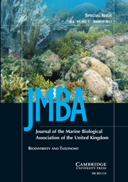 Journal of the Marine Biological Association of the United Kingdom Volume 91 - Issue 2 -  Biodiversity and Taxonomy