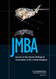 Journal of the Marine Biological Association of the United Kingdom Volume 92 - Issue 1 -
