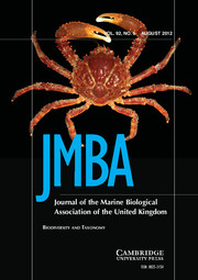 Journal of the Marine Biological Association of the United Kingdom Volume 92 - Issue 5 -