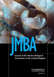 Journal of the Marine Biological Association of the United Kingdom Volume 93 - Issue 3 -