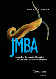 Journal of the Marine Biological Association of the United Kingdom Volume 94 - Issue 7 -