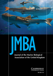 Journal of the Marine Biological Association of the United Kingdom Volume 94 - Issue 8 -