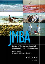 Journal of the Marine Biological Association of the United Kingdom Volume 96 - Special Issue1 -  Oceans and Human Health